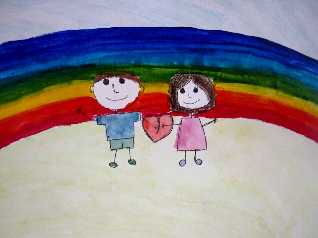рисунок мы разные мы вместе